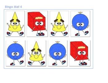 3 D Shapes Bingo Mat