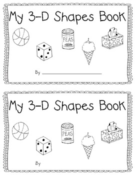3-D Shapes Book with Real World Objects