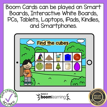 Boom Cards 3-D Shapes