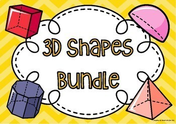 3D Shapes Nets, Activities, Lesson Plans, Riddles and Posters Bundle