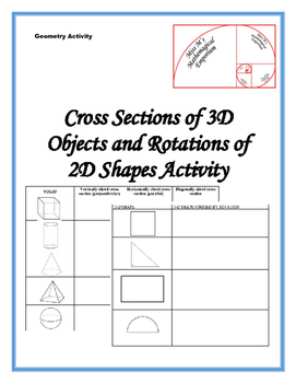 3-D Shapes Cross Sections and 2-D Shape Rotations Play Doh Activity