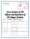 3-D Shapes Cross Sections and 2-D Shape Rotations Play Doh