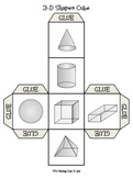 3-D Shapes Cube {Geometry/Math/Solid Figures}