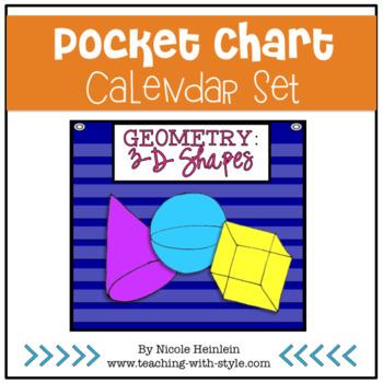 3-D Shapes Everywhere - Pocket Chart Calendar Set