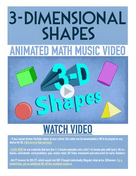 3-D Shapes | FREE Printable Poster, Worksheet & Fun Video
