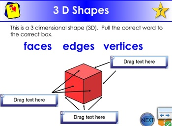 3 D Shapes - Faces, Edges, Vertices