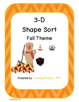 3-D Shapes - Fall Theme