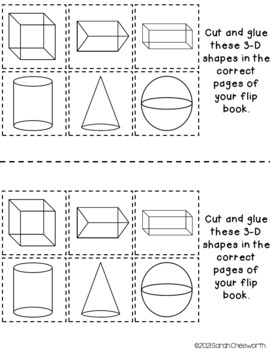 3-D Shapes Flip Book