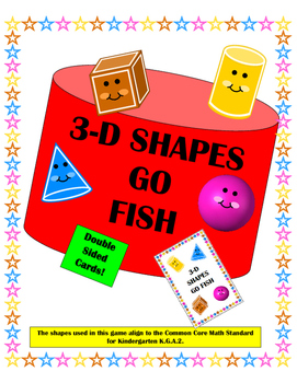 3-D Shapes Go Fish - Kindergarten