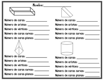 3-D Shapes In Spanish