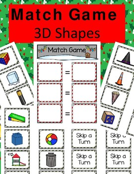 3-D Shapes Match Game