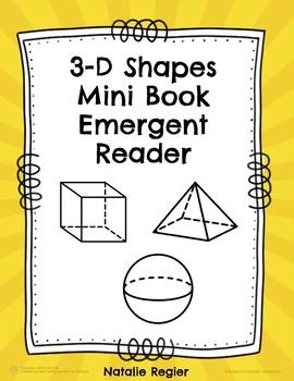 3-D Shapes Mini Book Emergent Reader