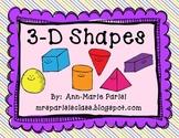 3-D Shapes Mini Unit