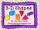 3-D Shapes Mini Unit