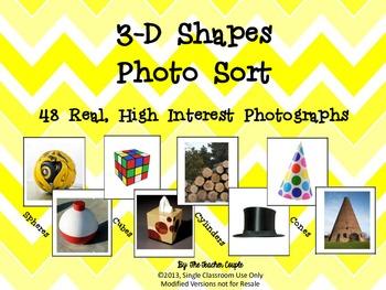 3D Shapes Photo Sort