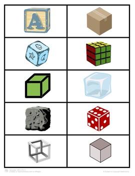 3-D Shapes Picture Sort