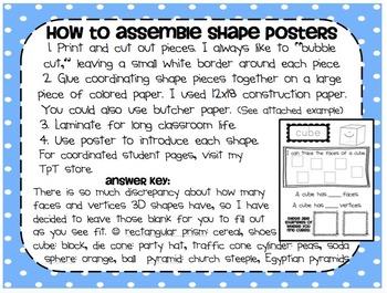 3-D Shapes Poster Kit