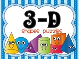 3 D Shapes Puzzles Math Centers, Station, and Tubs Activities