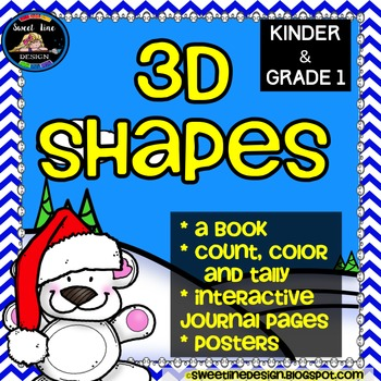 3-D Shapes Reading and Math Print and Go {Sweet Line Design}