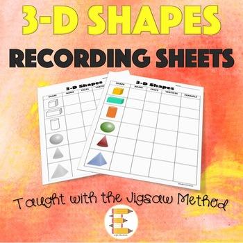 3-D Shapes Recording Sheets