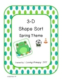 3-D Shapes - Spring Theme