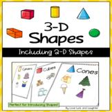 3-D Shapes Unit including 2-D Shapes