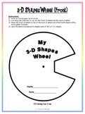3-D Shapes Wheel {Geometry/Math/Solid Figures}