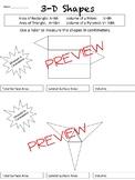 3-D Shapes Worksheet