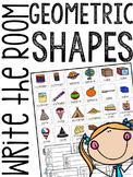 Geometric Shapes Write the Room (3-D Shapes Scavenger Hunt)