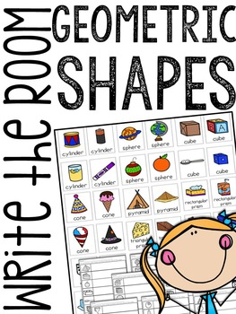 3-D Geometric Shapes Write the Room
