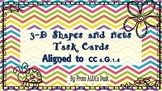 3-D Shapes and Nets Task Cards