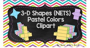 Shape's nets Clip art (pastel colors)