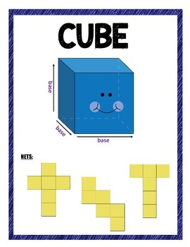 3-D Shapes with Nets for Common Core