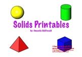 3-D Solid Shape Printables