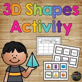 3d Shapes Activity Math Journal Page {K, 1, 2}, Solid Shapes