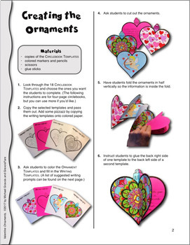 Valentine's Day Crafts and Activities—18 Ready-To-Go Ornament Templates