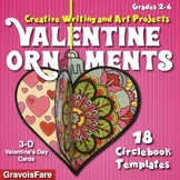 Valentine's Day Crafts and Activities / 18 Ready-To-Go Art and Writing Templates
