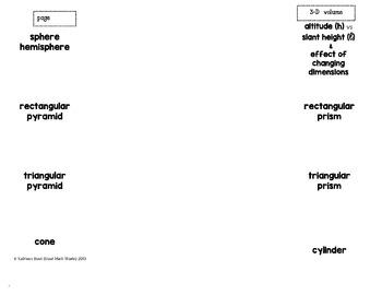3-D Volume Graphic Organizer