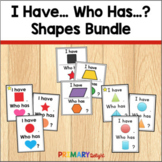 2D and 3D Shapes Game Bundle of I Have Who Has Games