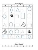 3-D and 2-D shape bingo