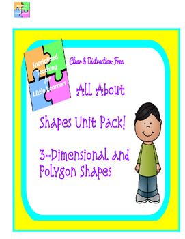 3-D and Polygon Shapes Unit! #sped #BTSBONUS