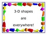 """""""3-D shapes are everywhere!"""" powerpoint"""