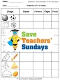 3-D Shapes Lesson Plans, Worksheets and More