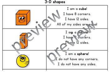 3-D shapes properties handout
