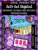 Interactive DIGITAL TASK CARD CENTERS-Opposites, Multiple