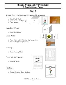 3 Day Danco Lesson Plan