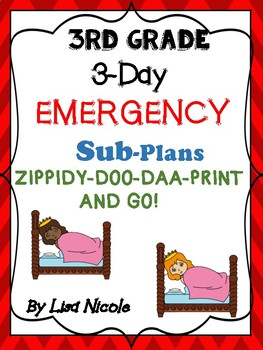 Substitute Lesson Plans for 3rd grade