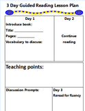 3 Day Guided Reading Plan