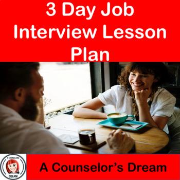 3 Day Job Interview Lesson Plan