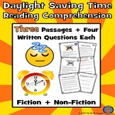 Daylight Saving Time Reading Comprehension Passages and Questions: Paired Text